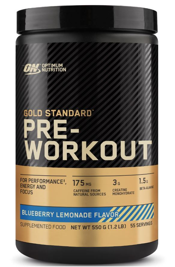 Optimum Nutrition Gold Standard Pre-Workout - Blueberry Lemonade (550g - 55 Serves)