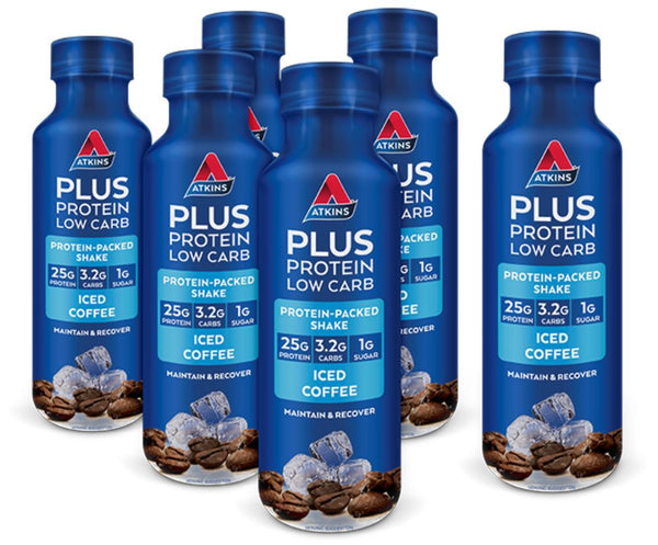 Atkins Plus Protein Low Carb RTD Shake - Iced Coffee (Pack of 6)