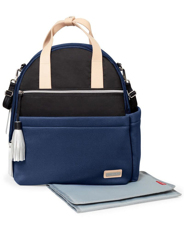 Skip Hop: Nolita Neoprene Nappy Backpack- Navy/Black