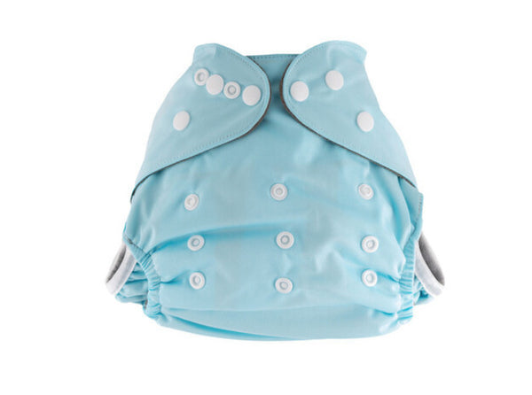 Little Genie: Reusable Charcoal Nappy - Blue