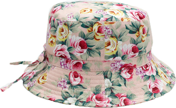 Banz Carewear: Bucket Sunhat - Vintage Rose (6 months to 2 years)