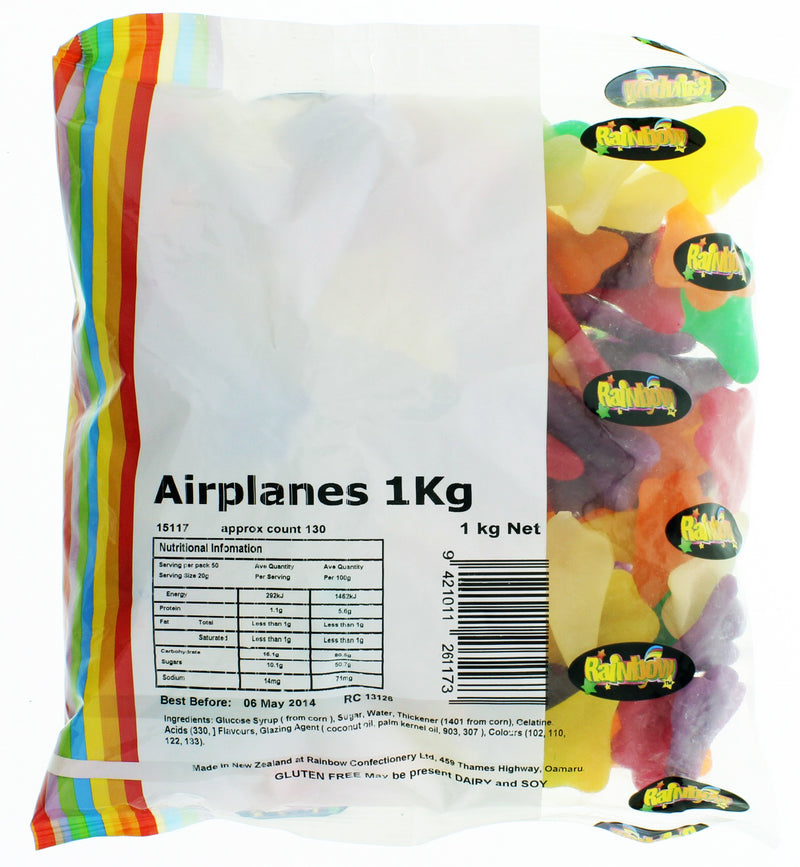 Airplanes 1kg - Rainbow Confectionery