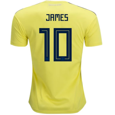 adidas James 2018 World Cup Colombia Home Jersey - YOUTH