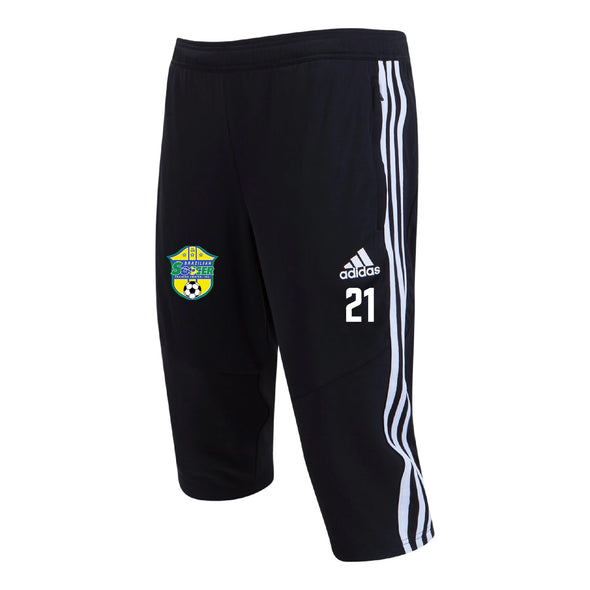 Brazilian Soccer Training adidas Tiro 19 3/4 Pants Pant - Black/White