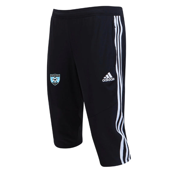 Weston FC Boys Premier adidas Tiro 19 Black 3/4 Pants