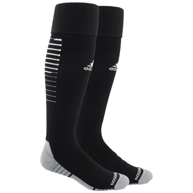 Weston FC Boys Premier adidas Team Speed II Soccer Socks - Black/White