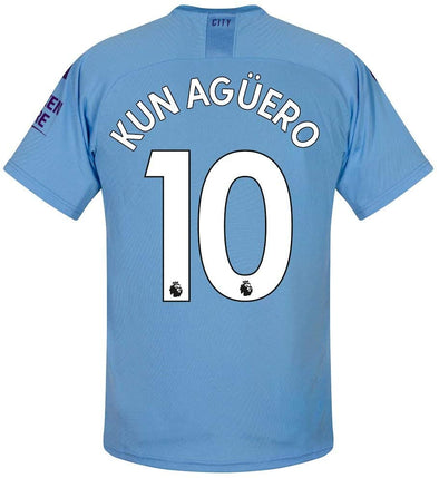 Puma Sergio Aguero 2019-20 Manchester City Home Jersey - YOUTH