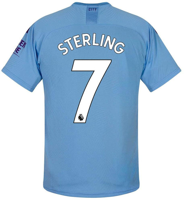 Puma Raheem Sterling 2019-20 Manchester City Home Jersey - YOUTH