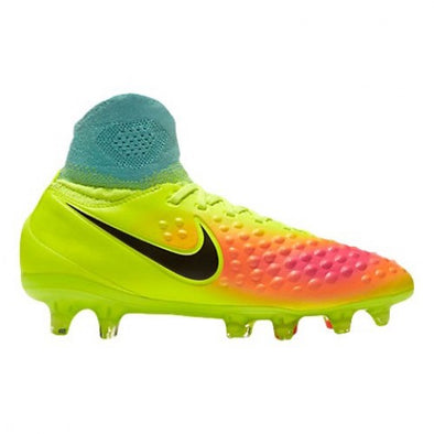 Nike Youth Magista Obra II Firm Ground Cleats Volt/ Hyper Chrimson