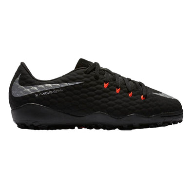 Nike Youth HypervenomX Phelon III Turf Shoes Black/Silver