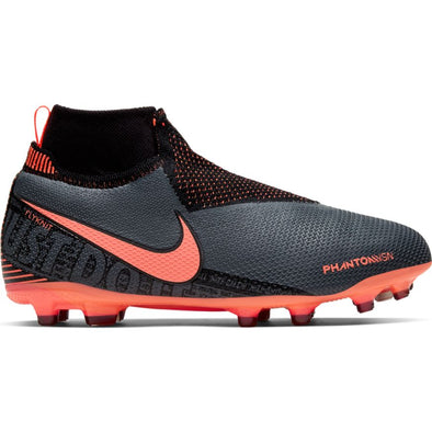 Nike Jr. PhantomVSN Elite Dynamic Fit MG (DARK GREY/BRIGHT MANGO-BLACK)
