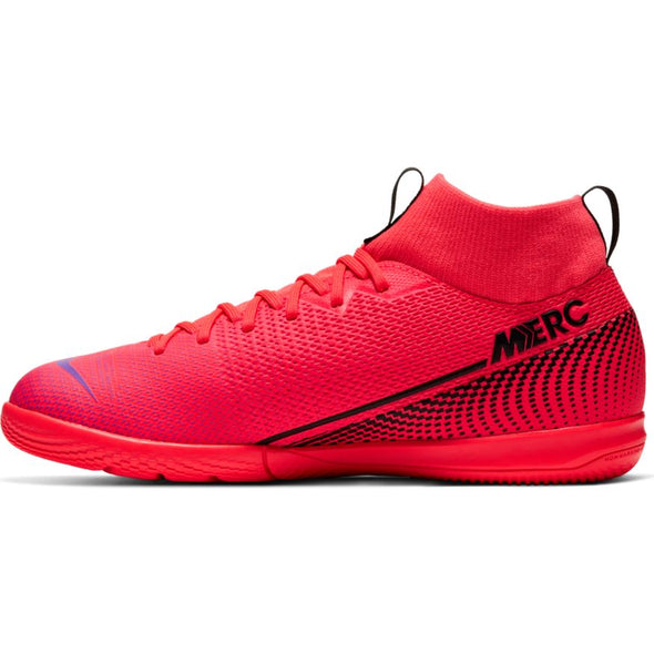 Nike Jr. Mercurial Superfly 7 Academy IC (LASER CRIMSON/BLACK-LASER CRIMSON)