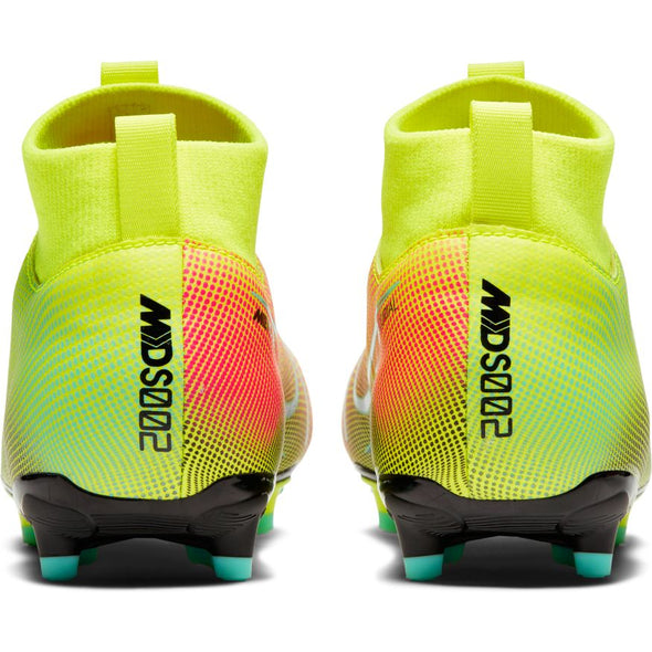 Nike Jr. Mercurial Superfly 7 MDS Academy FG JR (LEMON VENOM/BLACK-AURORA GREEN)