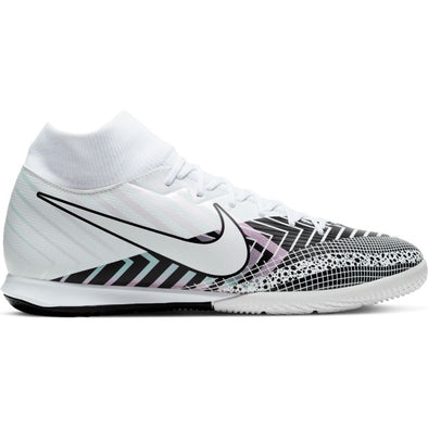Nike Mercurial Superfly 7 Academy MDS Indoor - White/Black/MetSilver