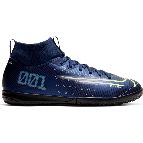 Nike Jr. Mercurial Superfly 7 Academy MDS IC (BLUE VOID/BARELY VOLT-WHITE-BLACK)