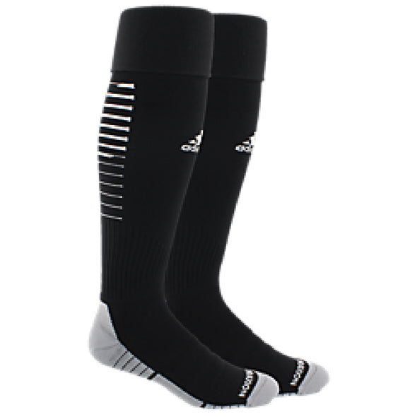 Plainview Old Bethpage adidas Team Speed II Package Sock - Black/White