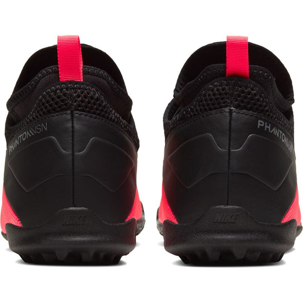 Nike JR Phantom Vision Academy Dynamic Fit TF (LASER CRIMSON/METALLIC SILVER-BLACK)
