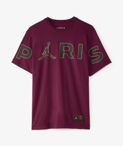 Nike Jordan PSG Wordmark T-Shirt - Crimson