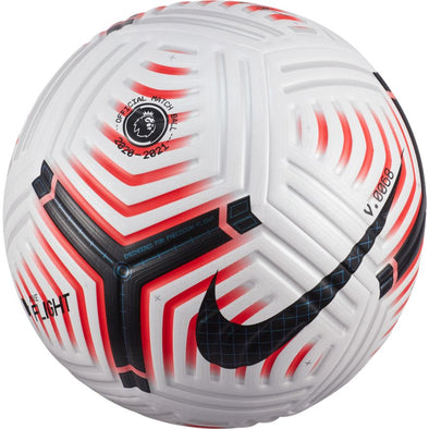 Nike Premier League Flight Soccer Ball - White/Laser Crimson/Black