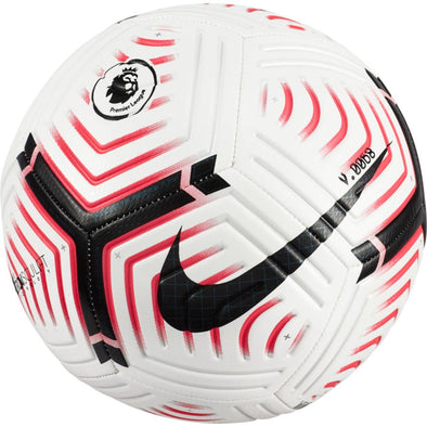 Nike 2020-21 Premier League Strike Soccer Ball - White/Laser Crimson/Black