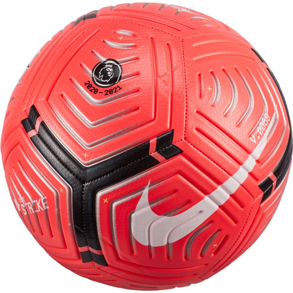 Nike 2020-21 Premier League Strike Soccer Ball - Laser Crimson/Metallic Silver/Black