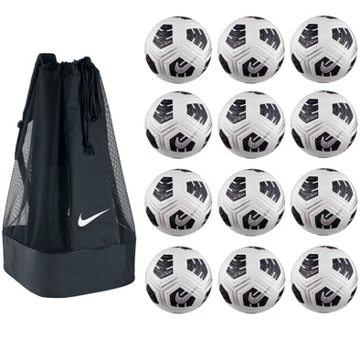 Nike NFHS Club Elite Team Soccer Ball Pack - White/ Black / Metallic Silver