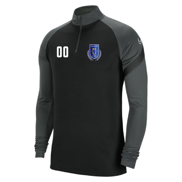 Montclair United Nike Dry Academy Pro Drill Top Black/Grey