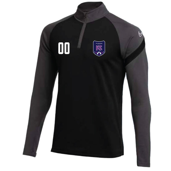 Montclair United Nike Dry Academy Pro Drill Top - Black/Grey