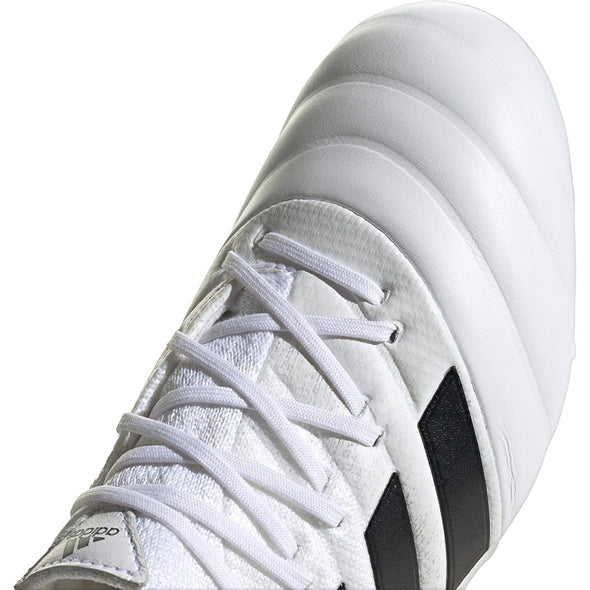 adidas Copa 20.1 FG Jr - White/Core Black/Signal Green