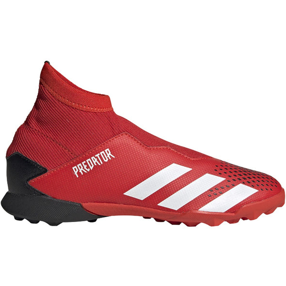PREDATOR 20.3 Laceless Youth Turf Shoes - Red/White/Black