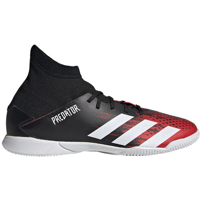 adidas Predator 20.3 Youth Indoor Shoes - Black/Red/White