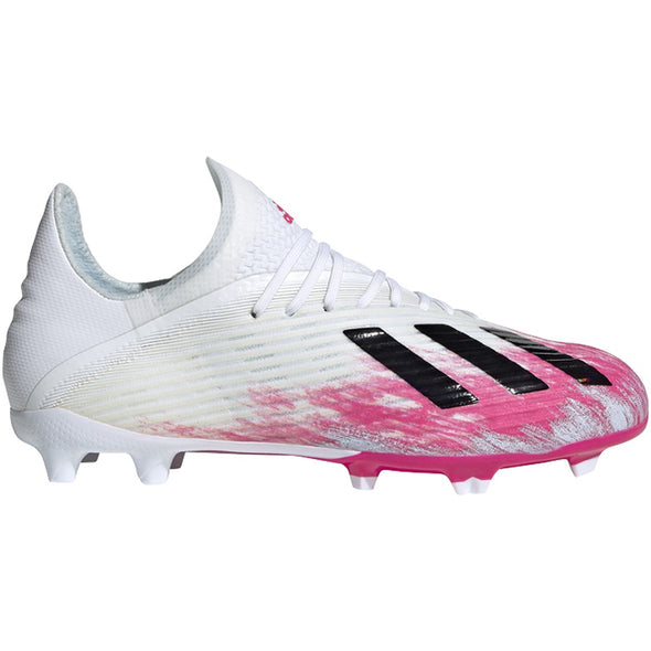 adidas X 19.1 FG Junior - White/Core Black/Shock Pink