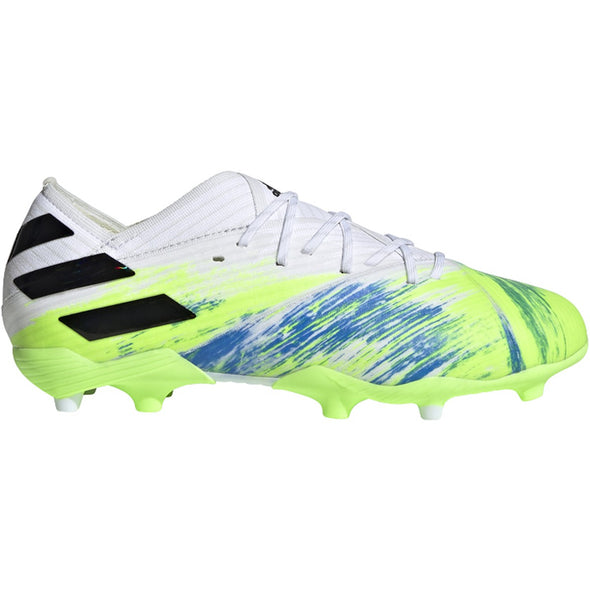 adidas Nemeziz 19.1 Junior FG - White/Core Black/Signal Green