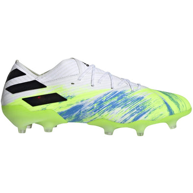 adidas Nemeziz 19.1 FG - White/Core Black/Signal Green