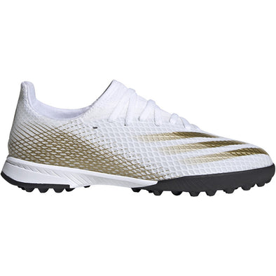 adidas Ghosted.3 TF JUNIOR - White-MetallicGold-Black