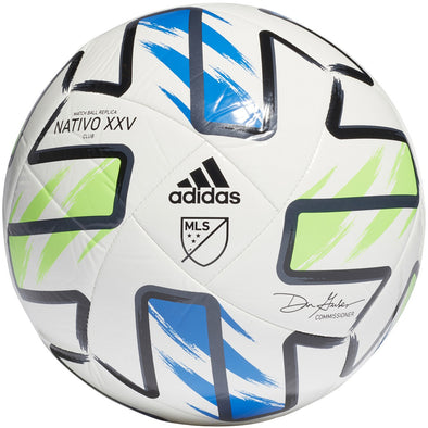adidas 2020 MLS Nativo XXV Club Soccer Ball (White)