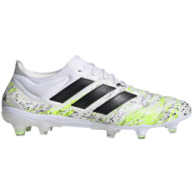 adidas Copa 20.1 FG - White/Core Black/Signal Green