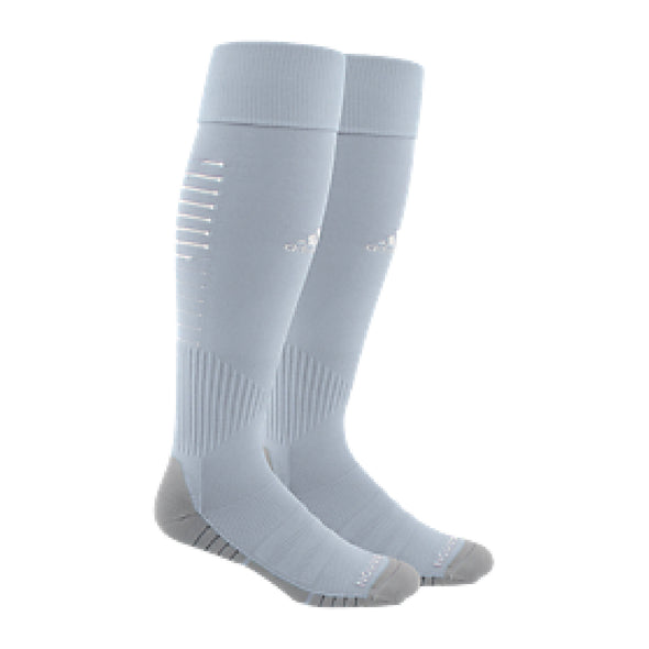 Parsippany SC Academy adidas Team Speed II Match Soccer Socks - Grey/White