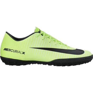 Nike Junior MercurialX Victory VI TF JR Turf Artificial Ground Soccer Shoe- Electric Green/Black