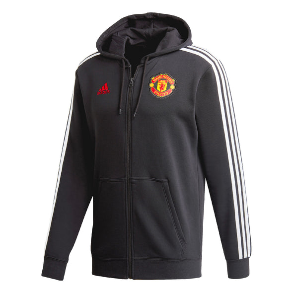 adidas 2020-21 Manchester United Full Zip Hoodie - ADULT