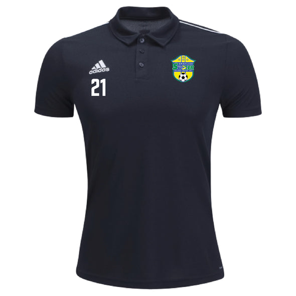 Brazilian Soccer Training adidas Academy Core 18 Polo - Black