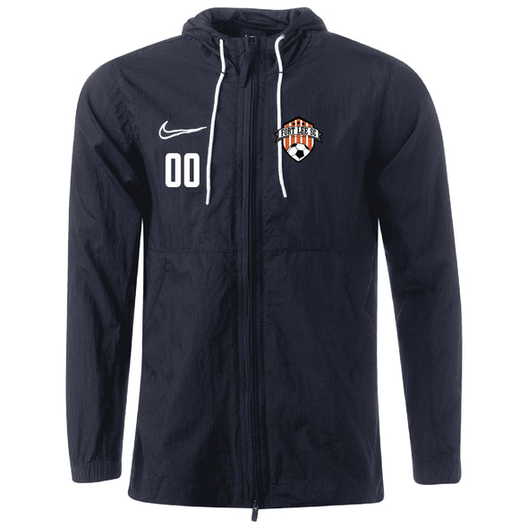 Fort Lee Nike Academy 19 Rain Jacket Black
