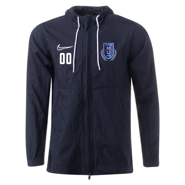 Montclair United Nike Academy 19 Rain Jacket - Black