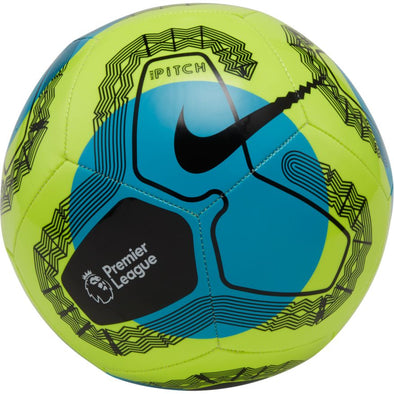 Nike Premier League Pitch Soccer Ball - Volt/Light Blue/Black