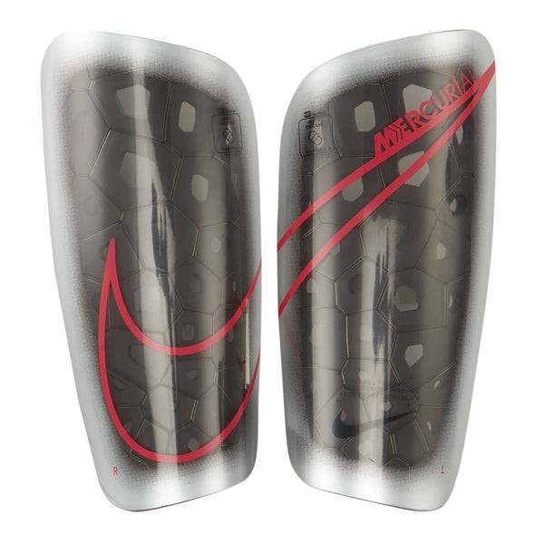 Nike Mercurial Lite Shinguards (METALLIC SILVER/BLACK/LASER CRIMSON)