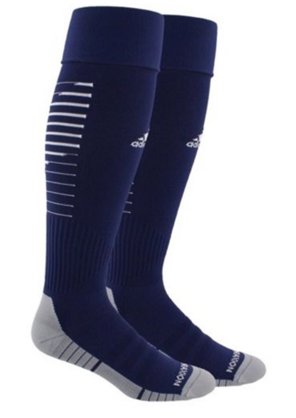 adidas Team Speed II Soccer Socks - Navy/White