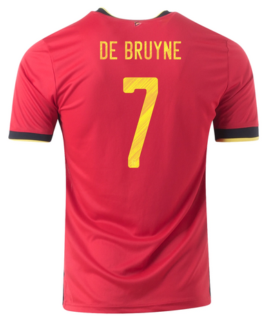 adidas Kevin De Bruyne 2020-21 Belgium Home Jersey - YOUTH