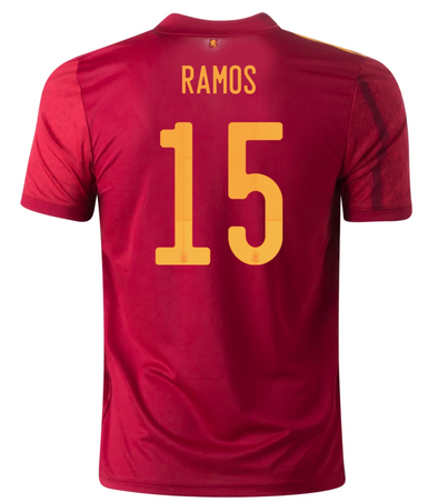 adidas Sergio Ramos 2020-21 Spain Home Jersey - YOUTH
