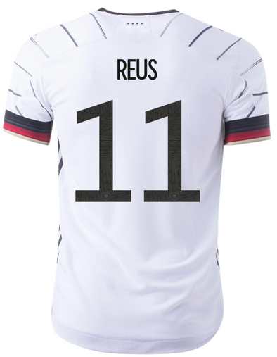 adidas Marco Reus Germany 2020-21 AUTHENTIC Home Jersey - MENS