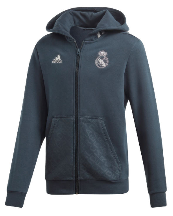 adidas Real Madrid Full Zip Hooded Jacket - YOUTH